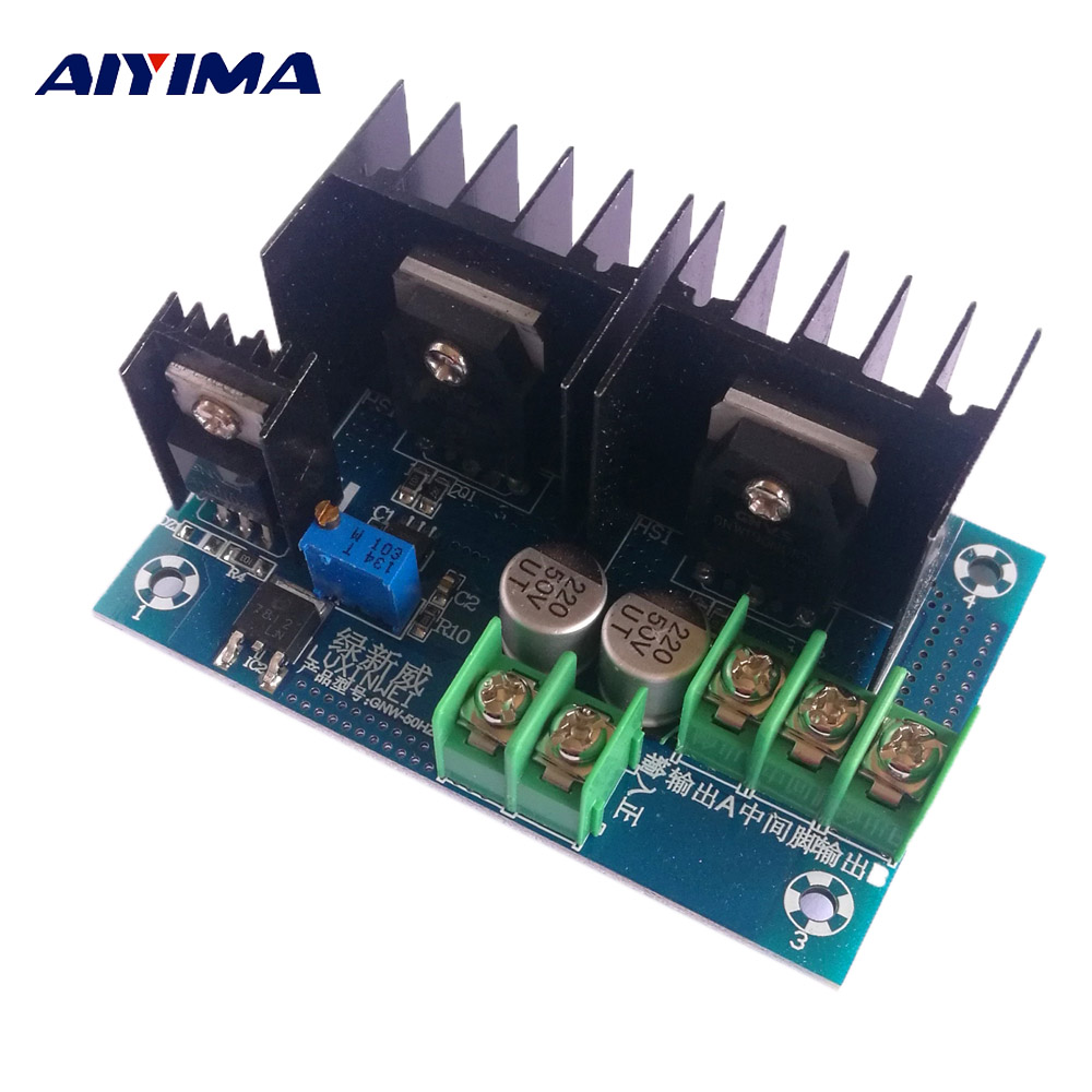 Aiyima 1Pc 12V 500W Inverter Drive Low Frequency Power Frequency Transformer Circuit Board DC-AC 220V Inverter Module 50HZ inverter drive board power frequency transformer driver board dc12v to ac220v home inverter drive board