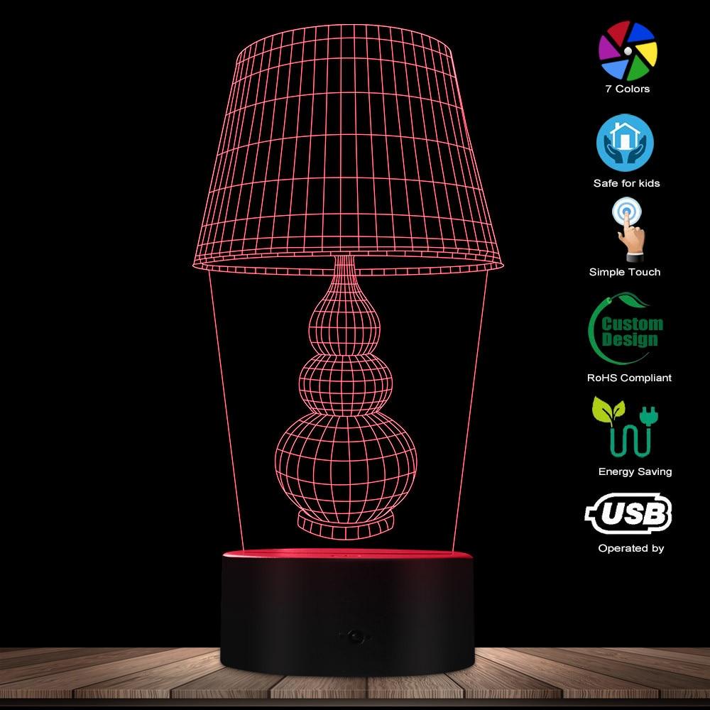 3D Night Lamp Optical Illusion Desk Lamp Shaped Lighting Decor Modern Desk Lamp Personalized Lighting USB Light Gift For Her