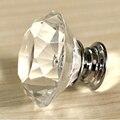 10 pcs 30 mm brilho de cristal K9 gaveta puxa e diamante do escritório maçanetas cozinha Hardware