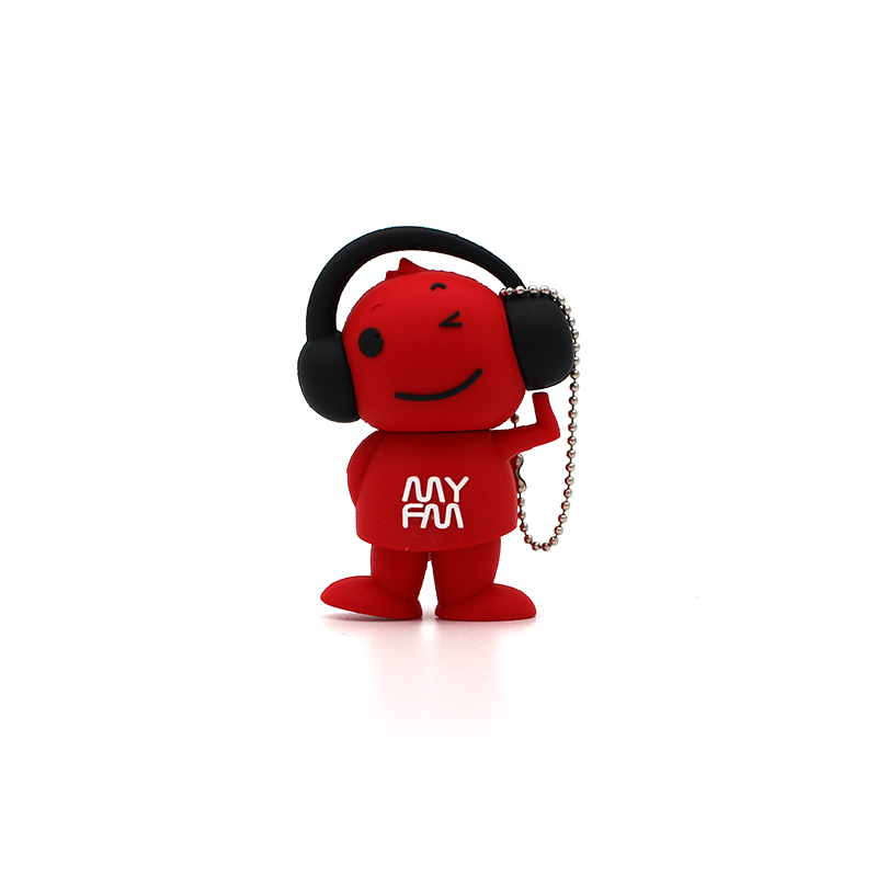 Usb Flash Drive Red Music Boy Disk Memory Stick Pendrive Pen Drive Mini High Quality Computer Gift 4G 8G 16GB 32GB 64GB Hot Gift