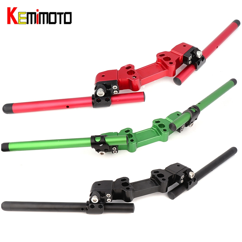 KEMiMOTO Ninja650R ER6F ER 6F Adjustable Handlebars Handle Bar With Clamp Kit For Kawasaki Ninja 650R