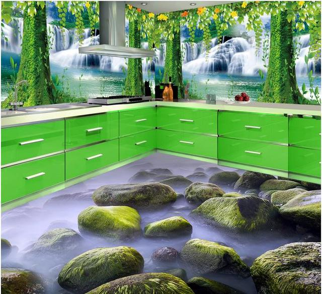 Custom 3d Floor Tiles Wallpaper Forest 3d Flooring