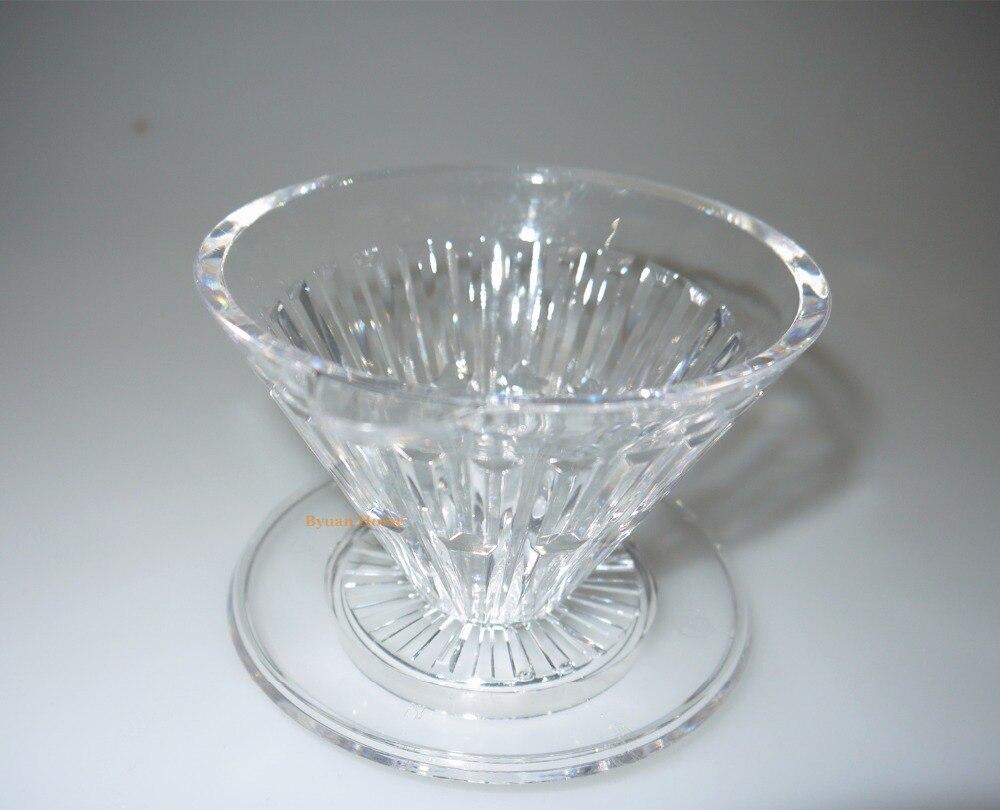 Acrylic New crystal eye dripper V design coffee dripper ...