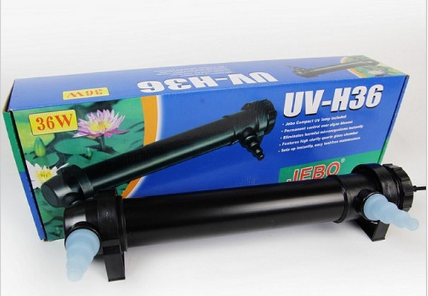 Jebo 36w wattage uv sterilizer lamp light ultraviolet for Uv pond cleaner
