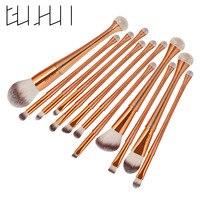 Pro 12pcs Set 3D Colorful Makeup Brushes Powder Foundation Eye Shadow Eyebrow Blush Contour Blending Cosmetic