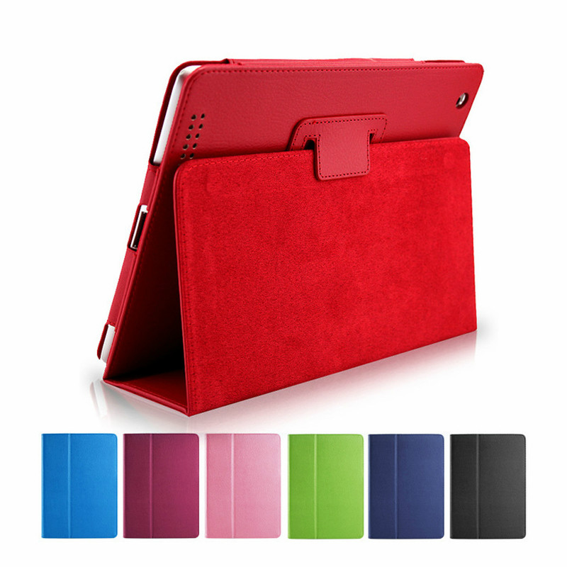 Case For iPad 2 3 4 9.7 Cover for iPad A1460 A1459 A1458 A1414 A1430 A1403 A1397 A1396 Flip Stand Leather PU Tablet Case Cover image