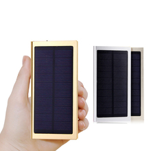 12000mAh Ultra Thin Solar Power Bank Universal Powerbank External Battery Pack Mobile USB Charger for iPhone/Samsung All Phone