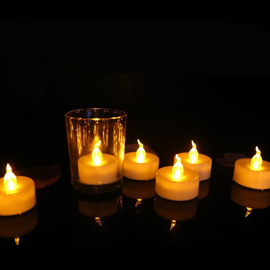 Flickering Tea Light LED Candle Flameless Battery Operated Wedding Home Bar Decor