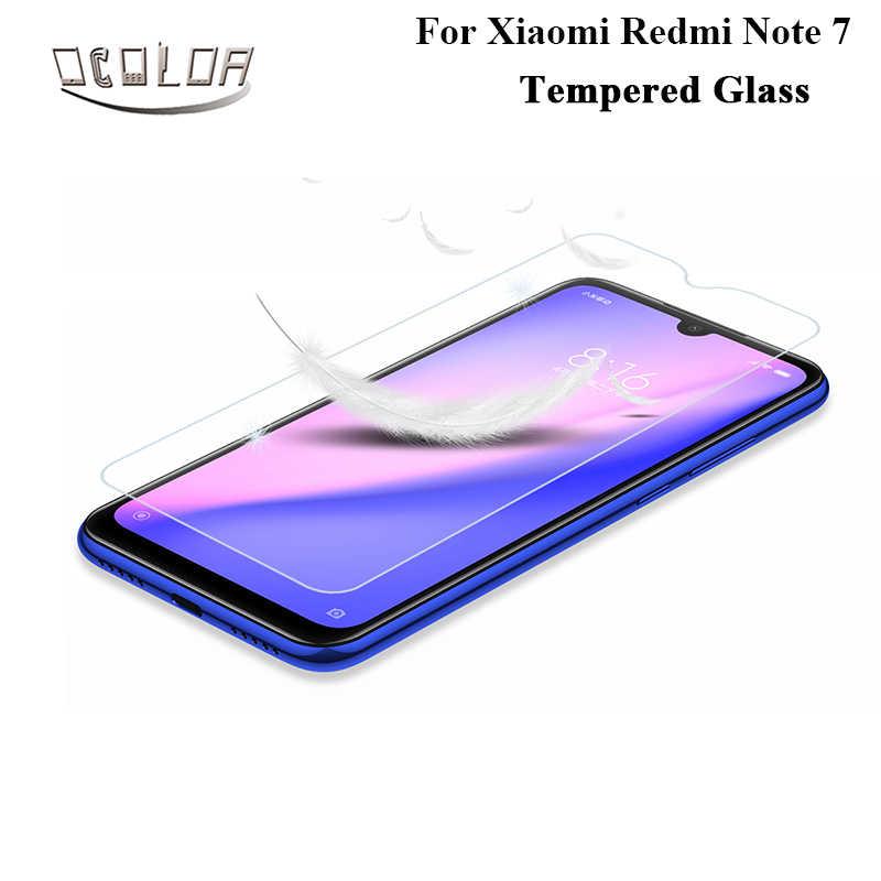 Kolor dla Xiaomi Redmi Note 7 ochraniacz ekranu ze szkła hartowanego Film ze stali do Xiaomi Redmi Note 7 akcesoria do telefonów