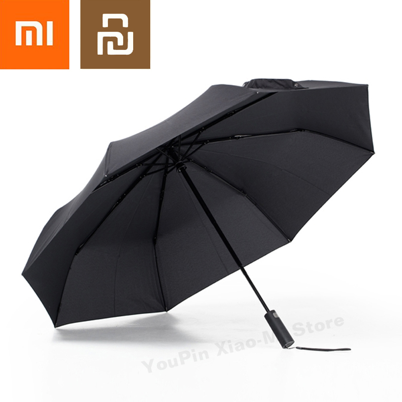 Novel Designs Delightful Colors And Exquisite Workmanship Glorious Xiaomi Mijia Automatic Sunny Rainy Bumbershoot Aluminum Windproof Waterproof Uv Parasol Man Woman Summer Winter Sunshade Famous For Selected Materials