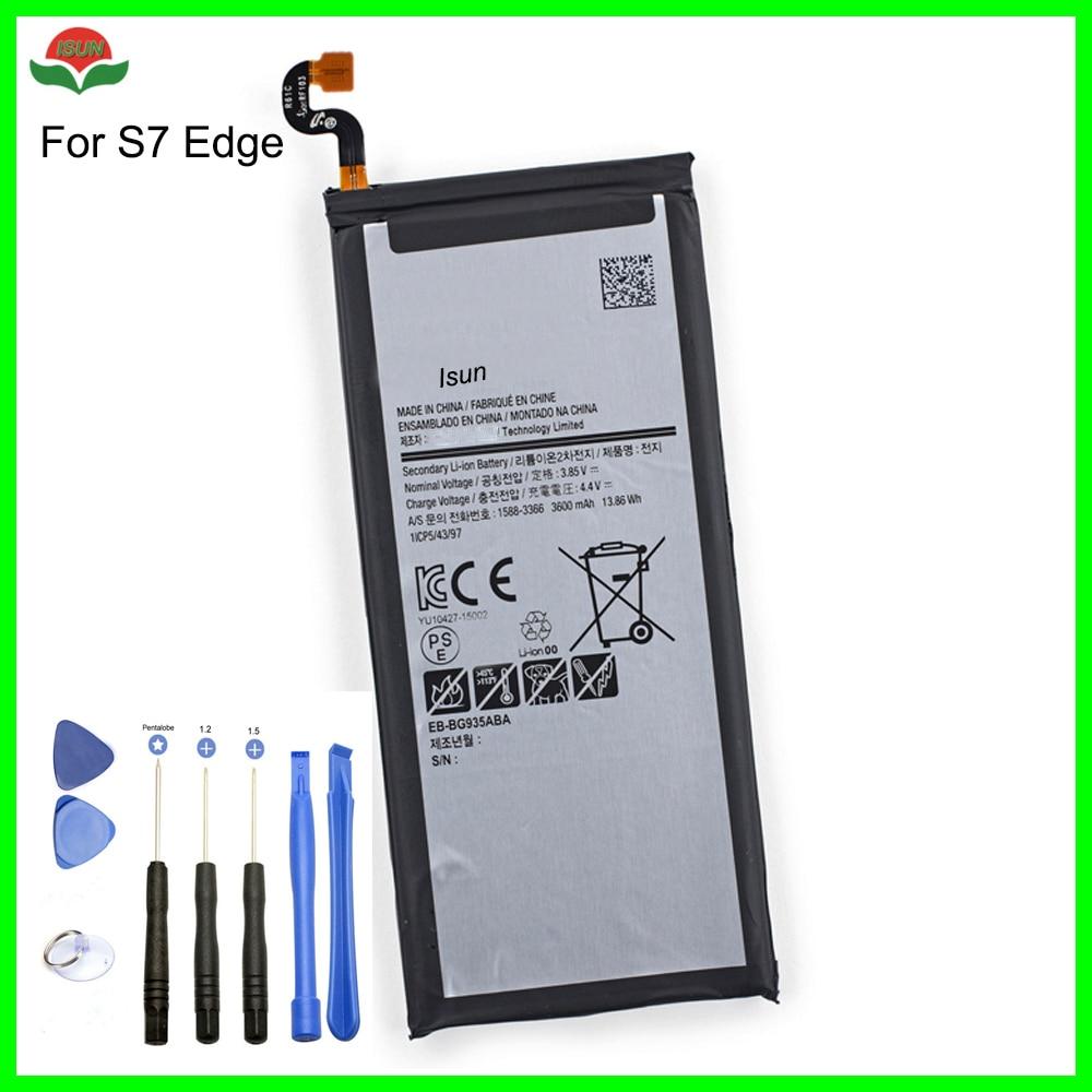 3600mah-Battery S7-Edge Samsung Galaxy Original For With Tools Quality ISUN