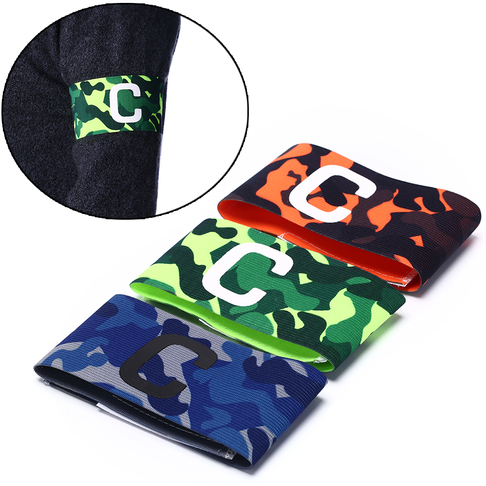 1pc Captain Armband Outdoor Football Soccer Flexible Sports Adjustable Player Bands Fluorescent Captain Armband