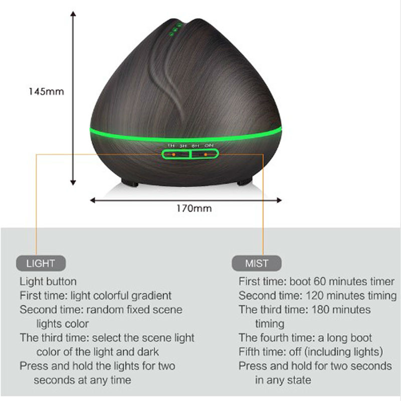 Ejoai 400ml Aroma Essential Oil Diffuser Ultralyd Luft - Husholdningsapparater - Foto 4