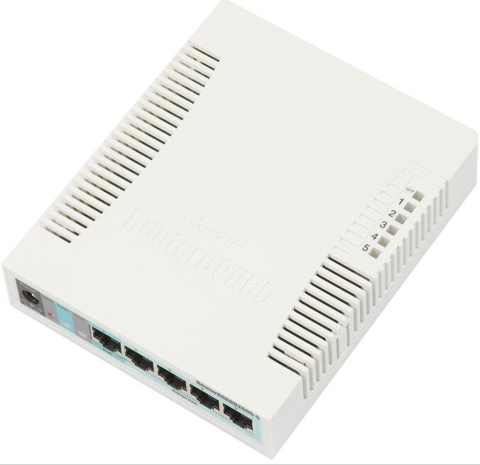 Mikrotik RB260GS CSS106-5G-1S petit SOHO Commutateur 5x Gigabit Ethernet, un SFP cage alimenté par une Atheros Puce de Commutation