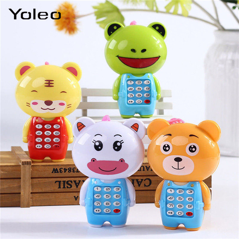 Kid Boy Girl Toddler Baby Educational Toy Music Lights UP Mobile Phone Shape Toy 0-36months Baby Birthday Toy Gifts