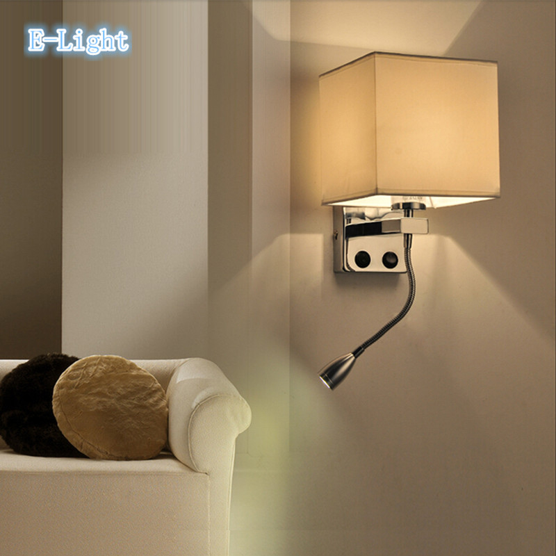 Wall Mounted Bedside Lamp With Plug : Aliexpress.com : Buy Modern brief mirror bedside wall lamps 1w led reading light lamp plumbing ...