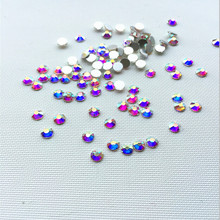 CCBLING ss3 1440pcs/Pack (1.3-1.4mm) Crystal AB Rhinestones for Nail Art, Flat Back Non Hotfix Glue on 3d Nail Art Rhinestones