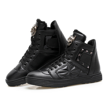 2017 Men Boots Leather High prime Casual Shoes Ankle Winter Hoots for Men Shoes Zapatillas Deportivas Hombre Zapatos Winter Shoes