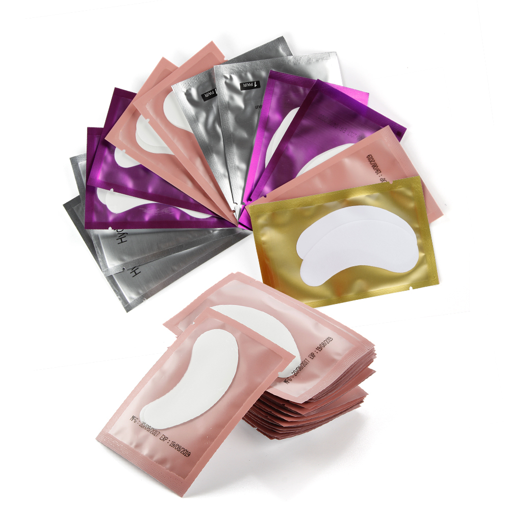 200 pares de Manchas De Papel Cílios Sob As Almofadas do Olho Lash Extensão Dos Cílios Travesseiro Adesivo Lint Livre Dicas Sticker Wraps Make Up ferramentas