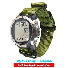 עבור Suunto D6 D6I מחשב צלילה שעון ניילון רצועת Watchbands + ABS מתאמי + Screwbars