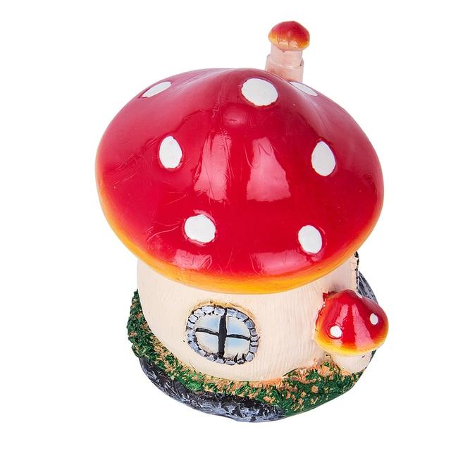 Mushroom House Resin Crafts Mini Fairy home Garden Decor DIY Ornament Landscape Miniatures Resin Accessories Micro Garden 6