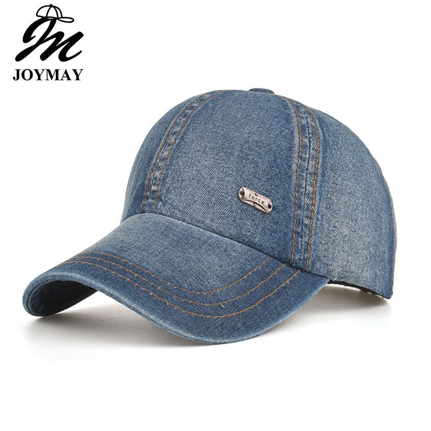 Joymay 2018 NEW ARRIVAL Spring Summer Autumn season Unisex denim Jean Solid color fashion outdoor   Baseball     cap   B536