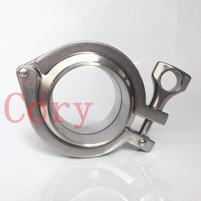1 SET include: 2Pcs SS304 Sanitary Pipe Weld Ferrule + 1 Pc Tri Clamp + 1 Pc Silicon Gasket 38mm Pipe O/D For Homebrew free shipping 6 154mm sanitary tri clamp weld ferrule tri clamp silicon gasket union set 304 stainless steel for homebrew