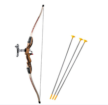 Children simulation brown Recurve send sucker arrows, children gift Children safe outdoor sports bows