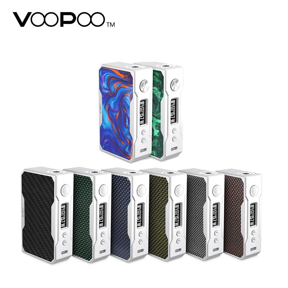 100% D'origine 157 W VOOPOO GLISSER TC Boîte MOD avec Puce GÉNÉTIQUE et plus rapide Feu Vitesse 0.025 s N ° 18650 Batterie Cigarette Électronique Mod