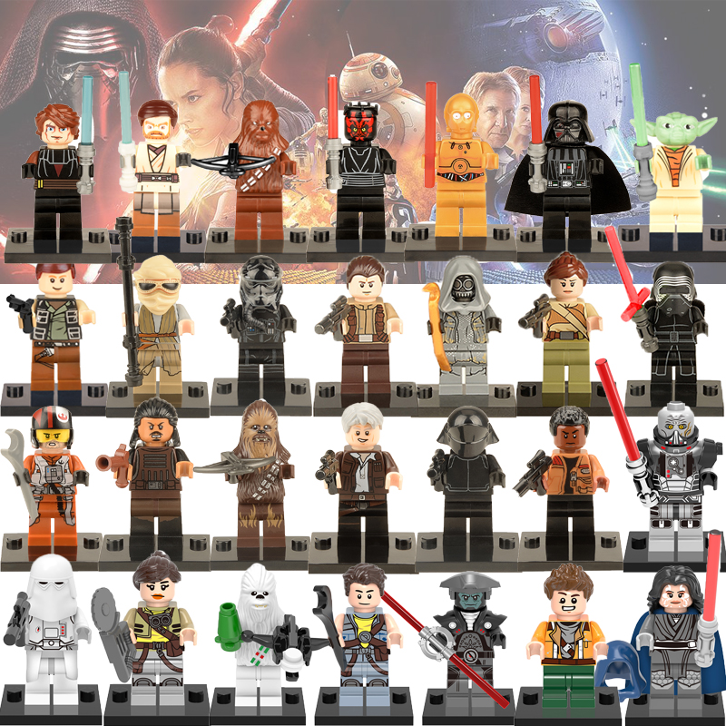 Legoelys Star Wars Force Awakens Figures Luke Han Solo Imperial Death Trooper Darth Vader Bricks Building Blocks Toys Figure