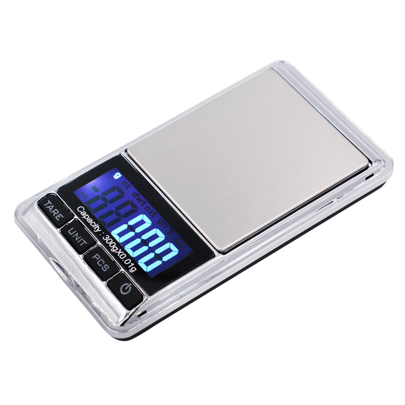 300g Portable LCD Electronic Jewelry Diamond digital pocket scale 300g 0 01g with retail box 20