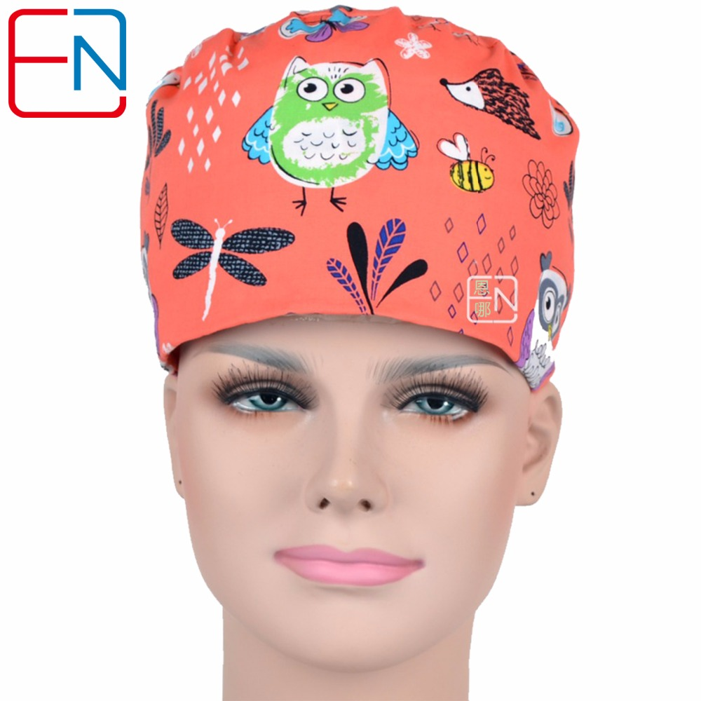 Surgical Caps For Women Medical Caps With 3 Sizes To Fit Different Size Head  Orange Night Olws Dragon Flows