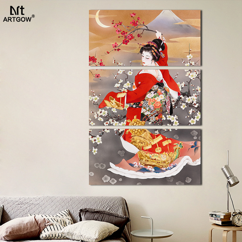 Japanese Kimono Wall Painting
