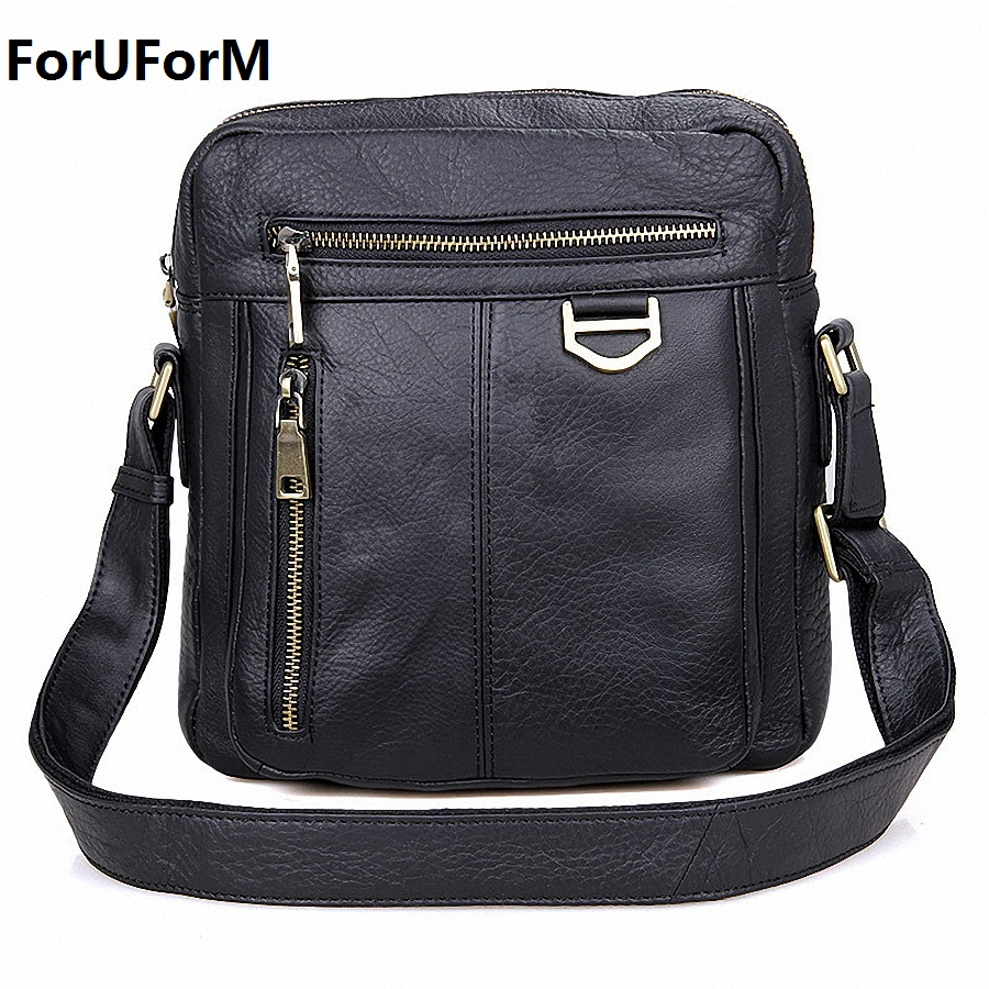цены Brand 100% Genuine Leather Men Messenger Bag Casual Crossbody Bag Business Men's Handbag Bags for gift Shoulder Bags Men LI-1747