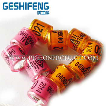 cheap 100pc 8mm  free shipping Aluminium with Plastic Pigeon Ring free color 2014