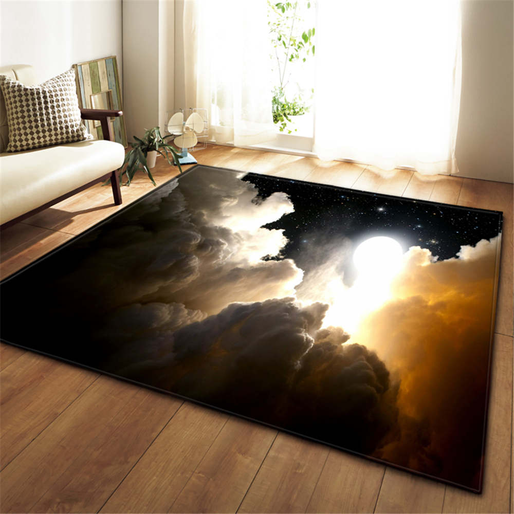 Image 3 - 3D Galaxy Space Stars Carpets Living Room Decoration Bedroom 