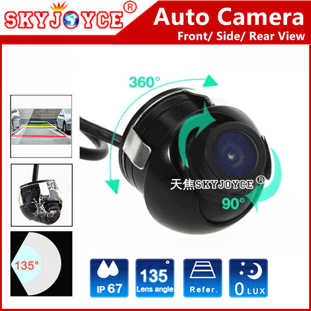 Rear view camera Front Side view camera CCD HD 360 Rotation