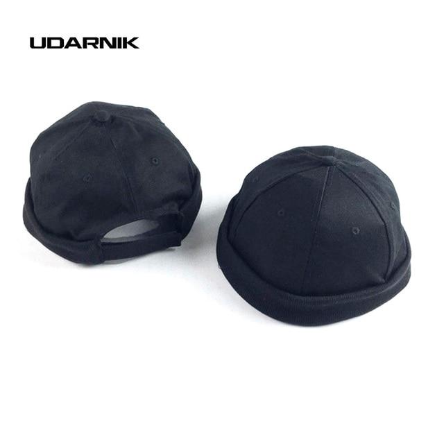 9ad495227d5 Men Women Black Skull Sailor Worker Caps Korean Trend Rolled Cuff Retro  Fashion Brimless Spring Autumn New Melon Hat 904-117