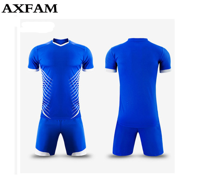 Hot Mens boys paintless Breathable football jerseys short-sleeve soccer  shirt blank football team full 37bb97e81