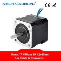 Nema 17 Stepper Motor 40 millimetri Nema17 Bipolare Stepping Motor 2A 45Ncm 1m di Cavo (17HS16-2004S1) 4-lead per 3D Stampante CNC Robot