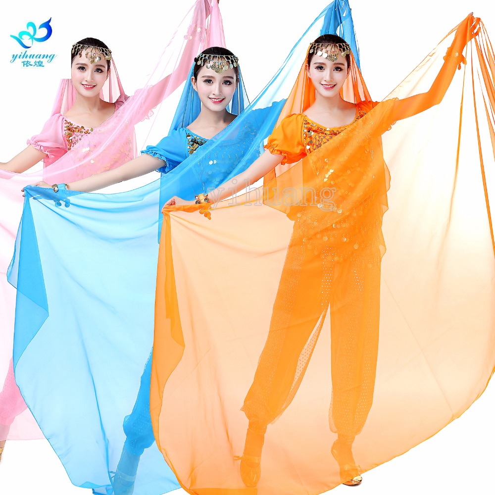 Belly Dancing Scarf Shawl Light Texture Veils Professional Women Belly Dance Veil Chiffon Indian Dancewear Outfits