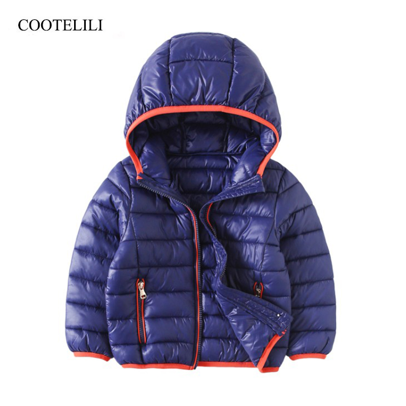 COOTELILI Jackets For Boys Girls Coat 2018 New Winter Coats For Girls Jacket Kids Coat Children Clothes Cotton Hooded Outerwear girls coat new 2017 fashion thicken outerwear coats solid kids warm jacket hooded girls winter jackets 5 14y children costume