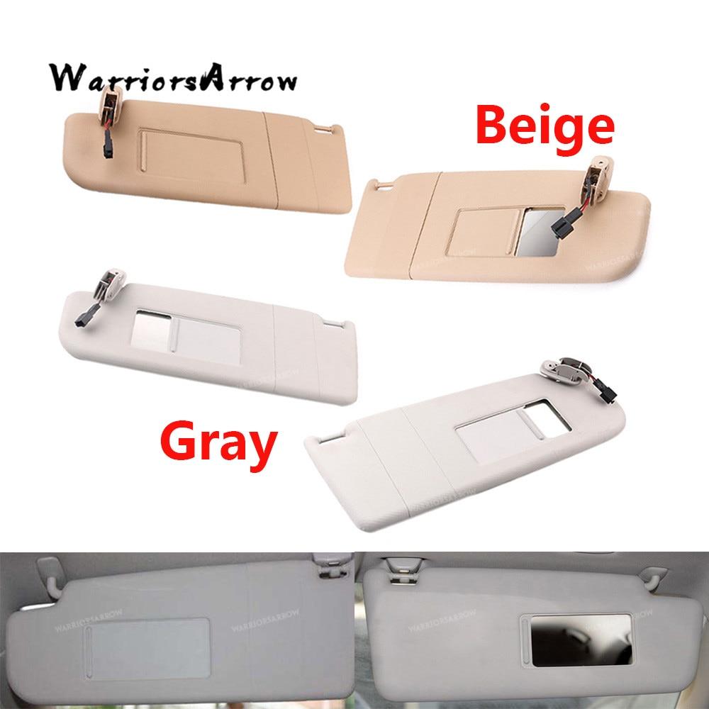 Beige Grigio Sun Visor Visiera Sinistra Destra Per Volkswagen Beetle 1998-2010 Golf Passat 1998-2005 B5 Superb 3B0857551 3B0857552