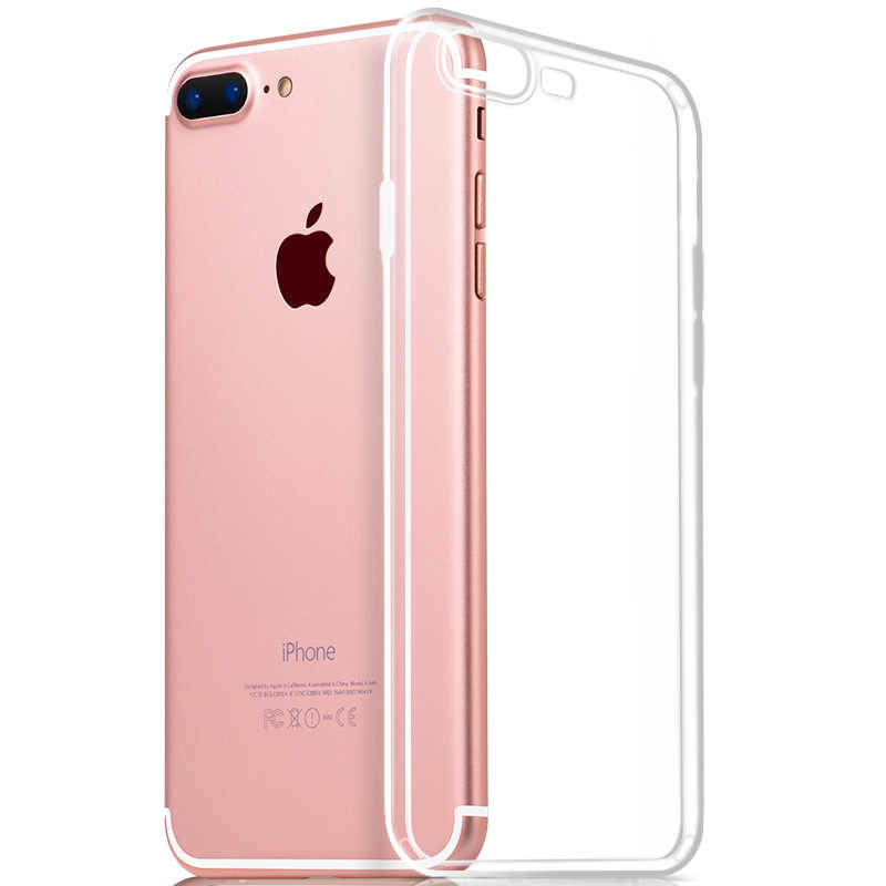 Claro suave TPU para iPhone 11 Pro MAX 6S 6 7 8 Plus 5 5S 5C SE 4 4S para iPhone XS Max XR X Fundas iPhone 6 Coque para iPhone 6 los casos