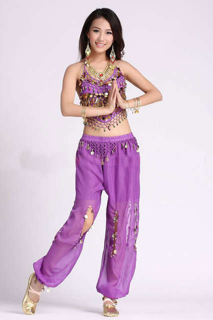 0cfe1209e Online Shop 2pcs Set Coin Egypt Belly Dance Costume Indian Triba ...