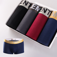 DEWVKV 4pcs/lot Mens Underwear Solid Modal Boxers Men Sexy Boxer Shorts Soft Breathable 2019 Panties Plus Size L XL XXL XXXL