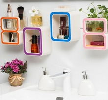 Creative Number 9/ 8 /0 Storage Soap Rack Plastic Boxes Suction Make up Bathroom Organizers Decorate Tool Home Candy Color