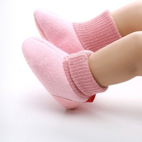 Toddler Shoes Newborn Knitted Flock Warm Pre-walker Shoes Baby Shoes New Winter Infant Soft Soled First Walkers 0-18M A Islamabad
