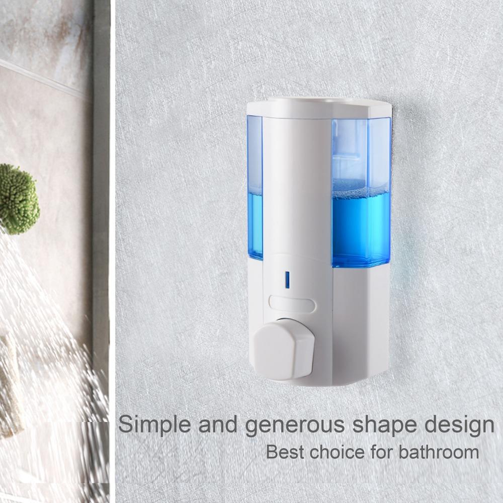 350 Ml Plastik Abs Shower Sampo Sabun Dispenser Hotel Kamar Mandi 1 4