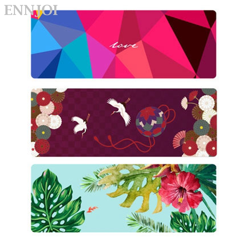 ENNJOI Nonslip Yoga Mat Natural Rubber 1mm Yoga Pads Suede Material for Exercise Gymnastics Slimming and Training 185cm*68cm*1mm